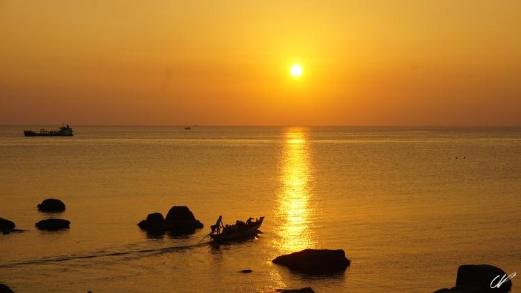 Thailand boat sunset